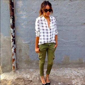 ASHLEY MASON-Size 11-Olive Skinny Cargo Pants